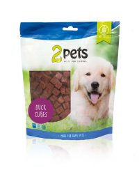 2pets Dogsnack Anka Cubes   400g