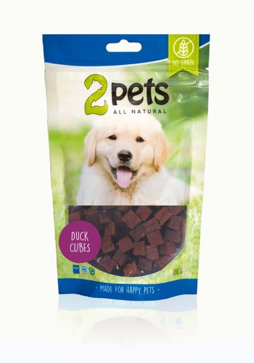 2pets Dogsnack Anka Cubes   100g