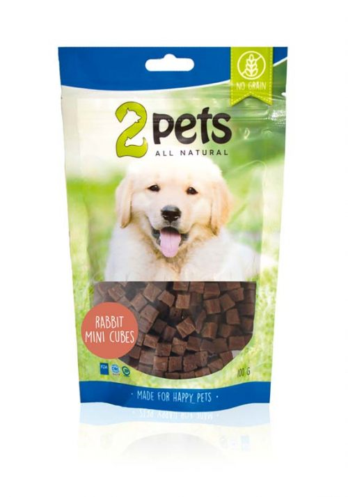 2pets Dogsnack Kanin MiniCubes | 100 g