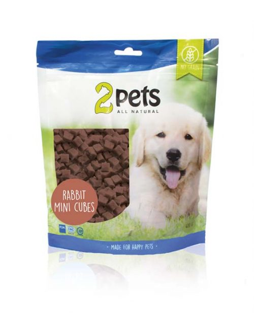 2pets Dogsnack Kanin MiniCubes   400g