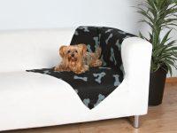 Hundfilt | Svart - Grå | 100x70cm