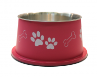 Bella Bowl Hög - Cerise | Hundmatskål