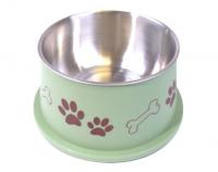 Bella Bowl Hög - Grön | Hundmatskål