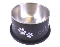 Bella Bowl Hög - Svart | Hundmatskål