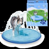 Hundpool med vattenspridare