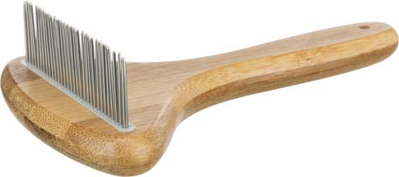 Hundkarda Bambu/Metall - Roterande piggar | 10x17cm