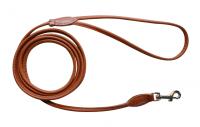 Rundsytt Läderkoppel 6mm x 180cm   Ljusbrunt