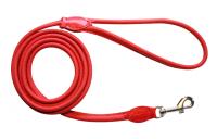 Rundsytt Läderkoppel 6mm x 180cm   Röd
