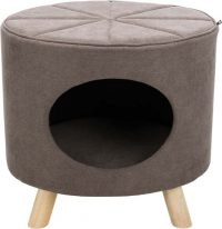 Marcy igloo med träben - Taupe | M: 50xH47x38cm