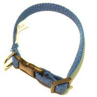Valphalsband Mörkblå   10mm x 22-34cm