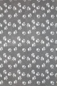 Hundfäll   Vetbed - Mörkgrå med ljusgrå tassar