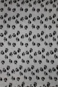 Hundfäll   Vetbed - Ljusgrå med svarta tassar