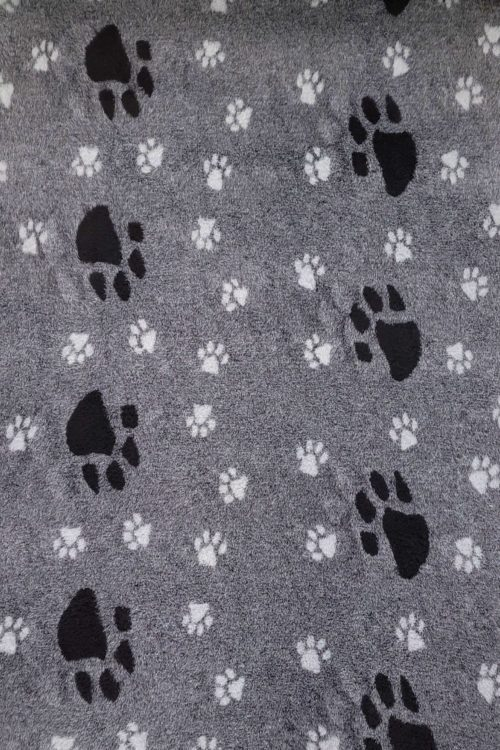 hundfäll big foot svart grå-80